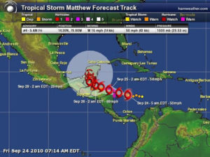 Tropical Storm Matthew – why be concerned?
