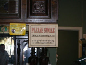 Opinion Page:  Pushing Back on Smoking Areas from the Cigar Enthusiast Point of View