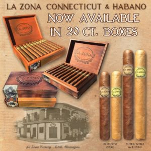 Cigar News: Espinosa Announces La Zona Connecticut & Habano 20 Count Boxes