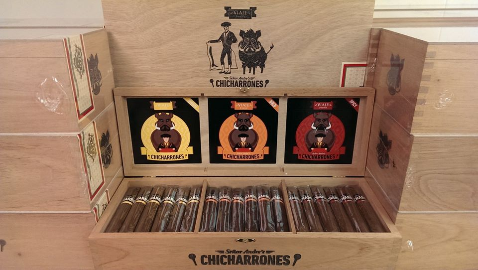 Senor Andre's Chicharrones Packaging (Photo Credit: Viaje Cigars Facebook Page)