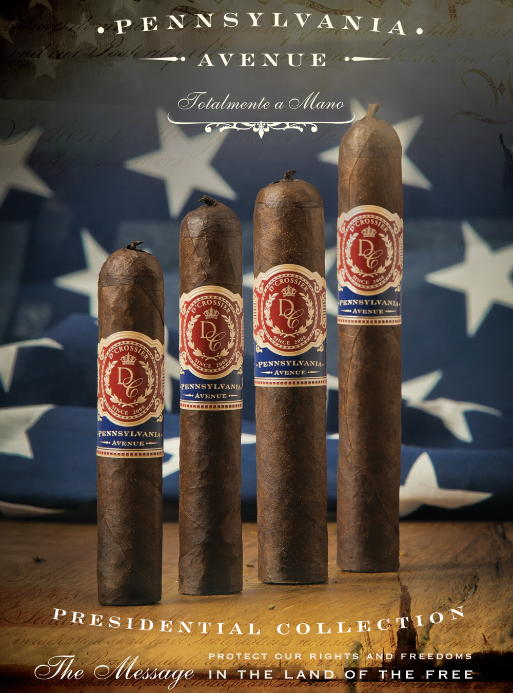 Cigar News: D'Crossier Presidential Collection Pennsylvania Avenue to Launch at 2016 IPCPR