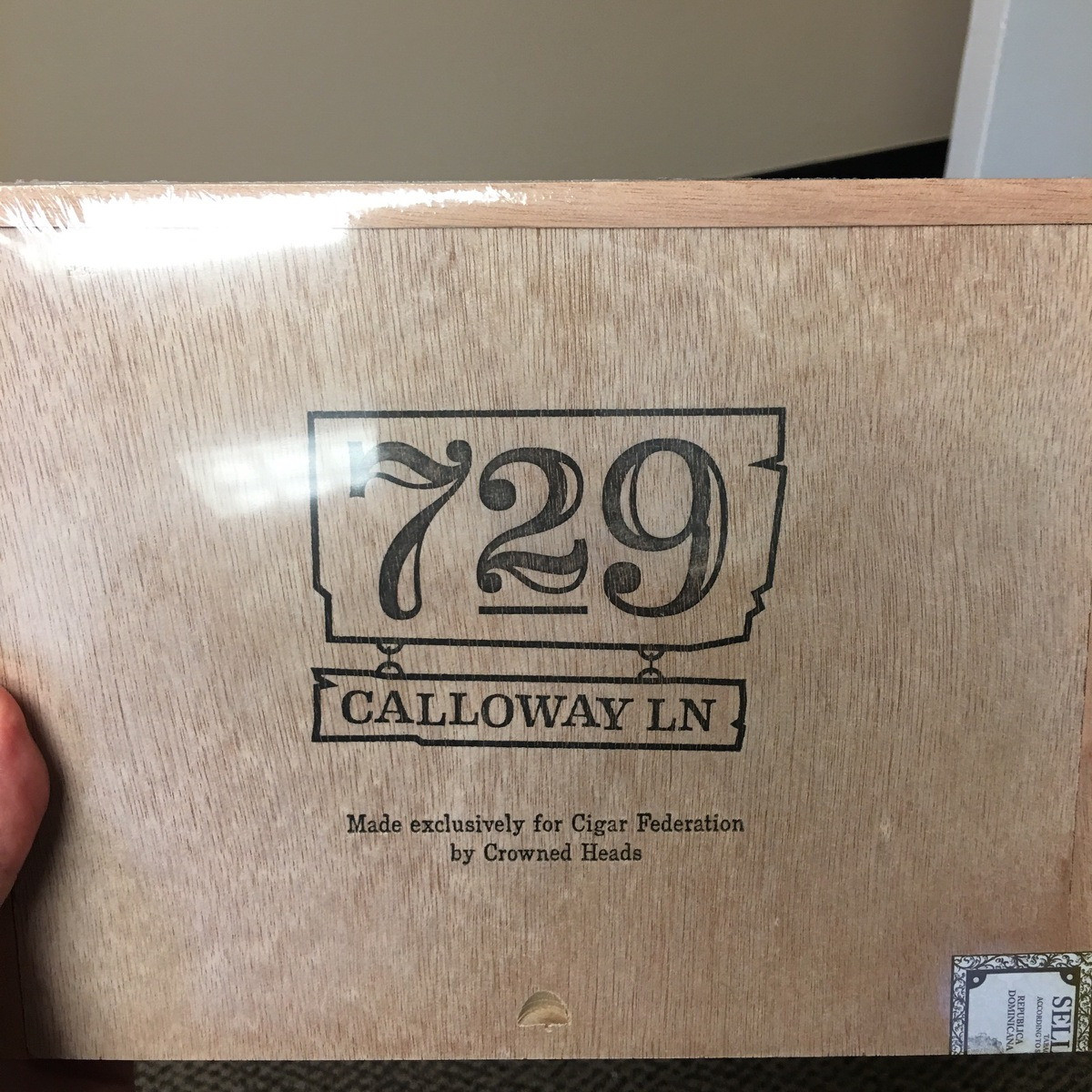 Cigar News: Crowned Heads Creates 729 Calloway Lane as Small Batch Exclusive for Cigar Federation