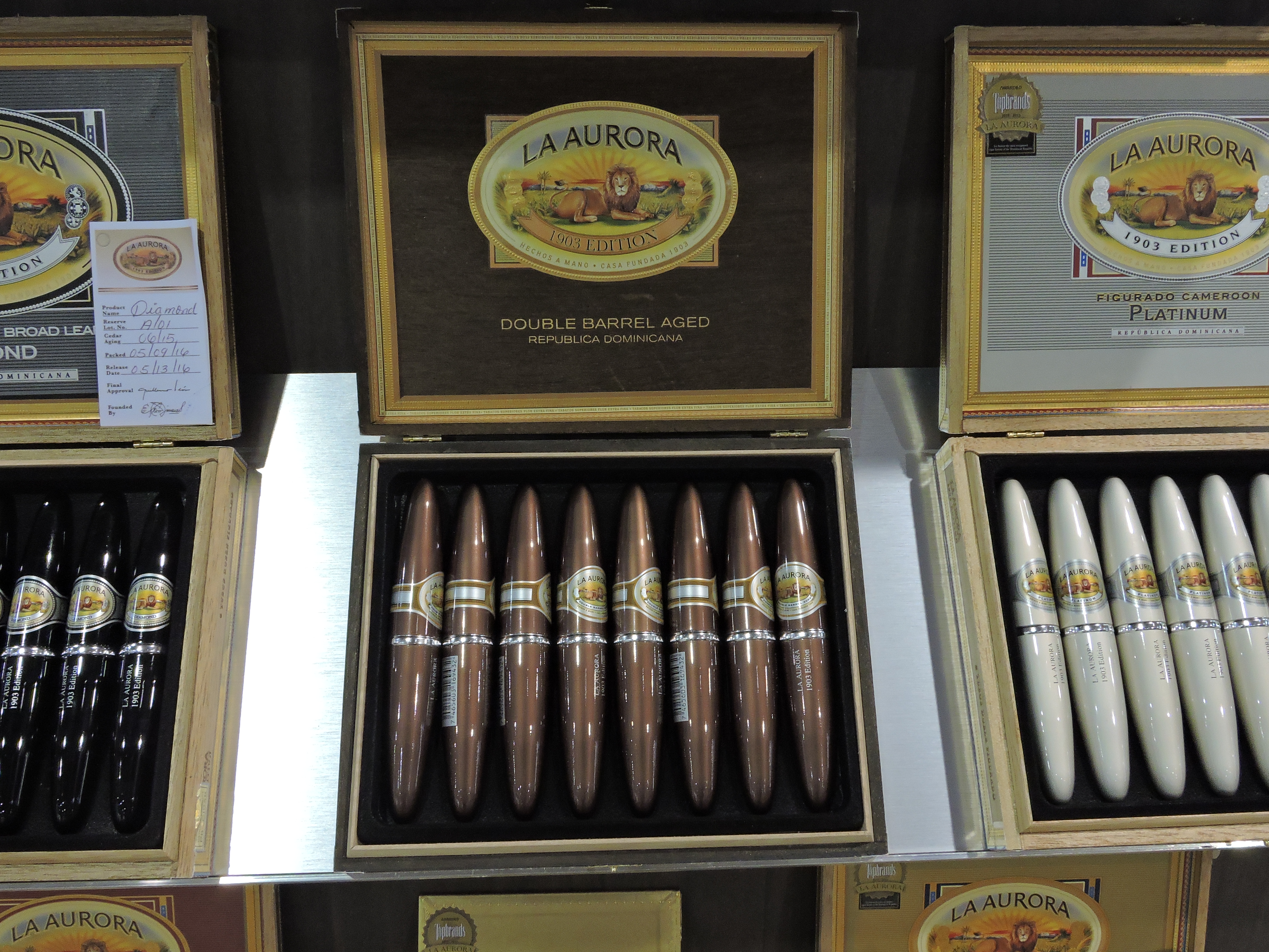 Cigar News: La Aurora Preferidos 1903 Edition Double Barrel Aged Unveiled at 2016 IPCPR