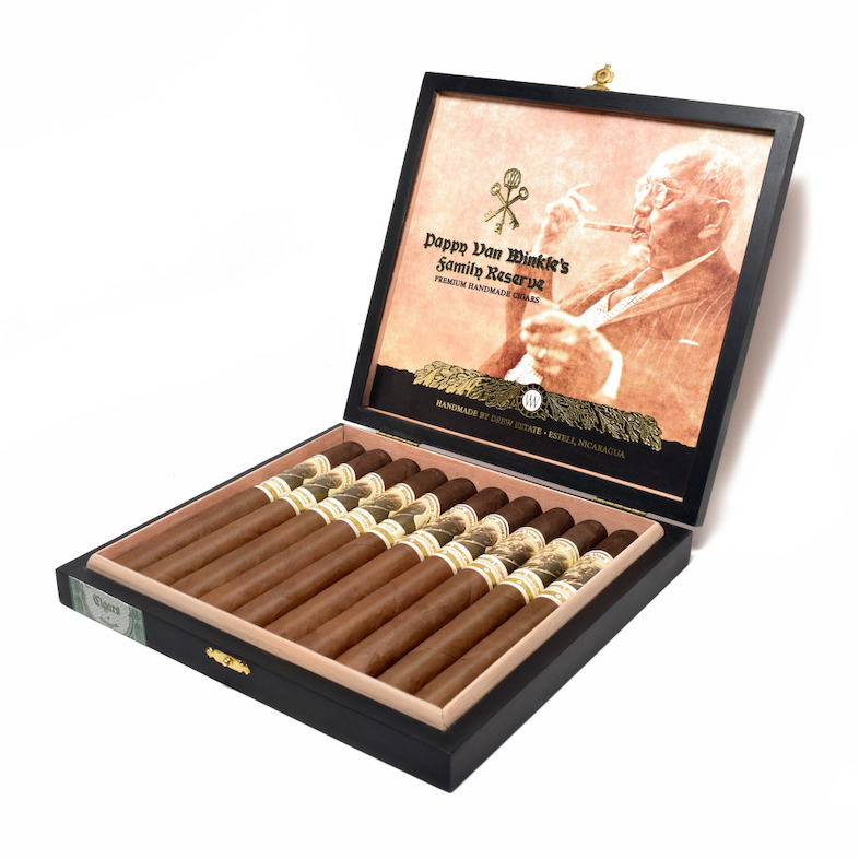 Cigar News: Drew Estate Adds Pappy Van Winkle Family Reserve Barrel Fermented Churchill and Pappy Drew Limitada
