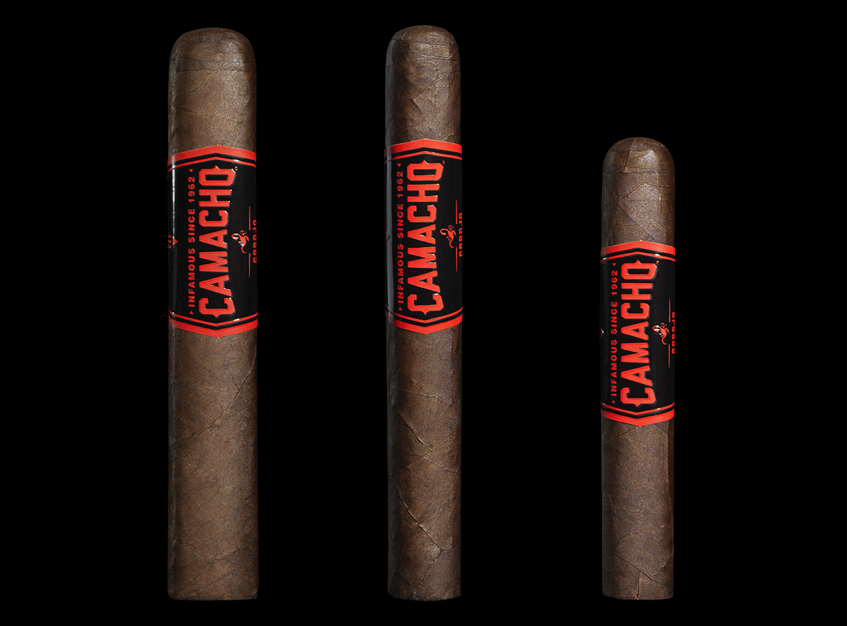 Camacho Corojo BXP (Left to Right: Gordo, Toro, Robusto)