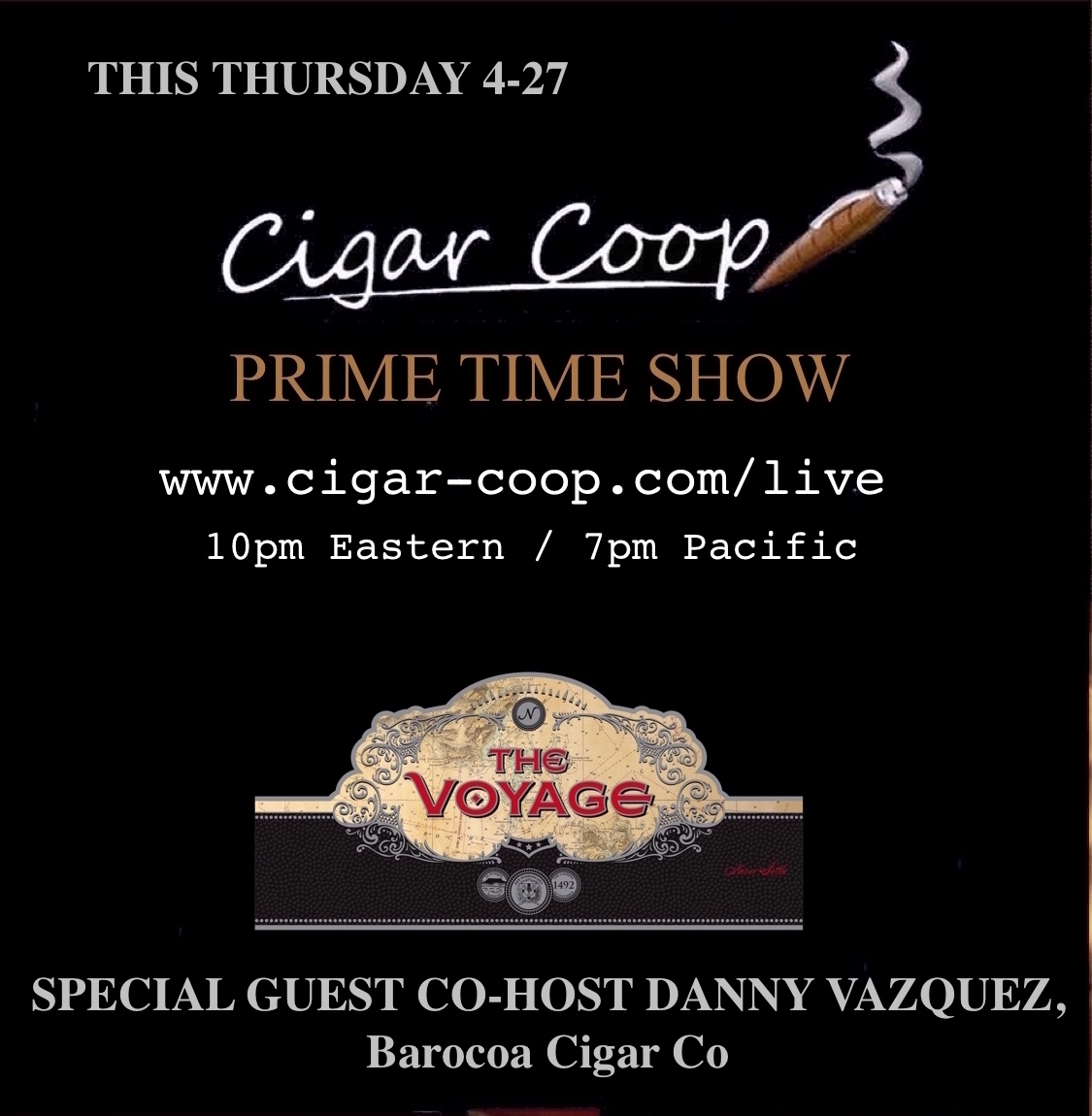 Announcement: Prime Time Show Episode 3: 4/27/17 10pm Eastern, 7pm Pacific