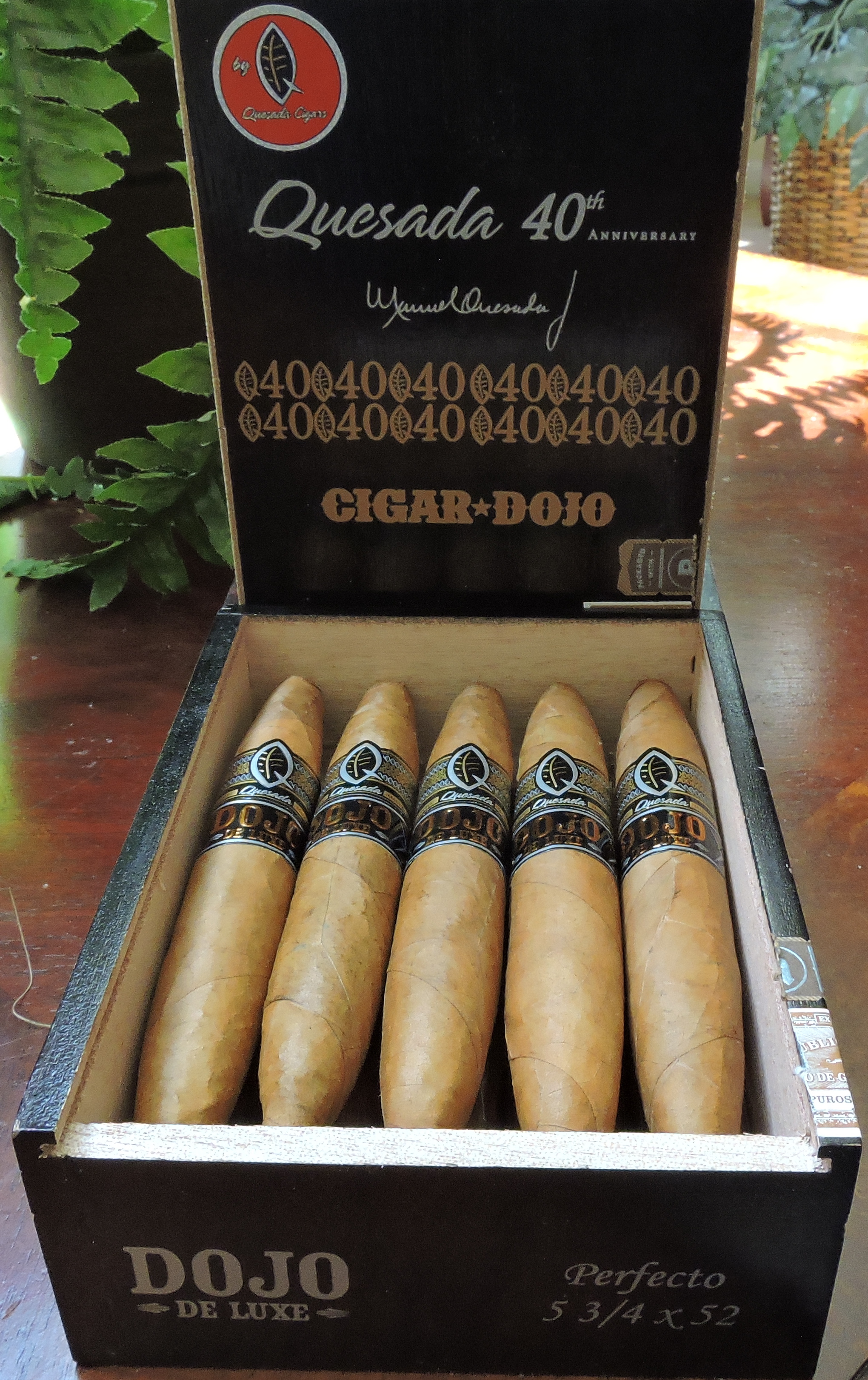 Open Box of the Quesada Dojo de Luxe