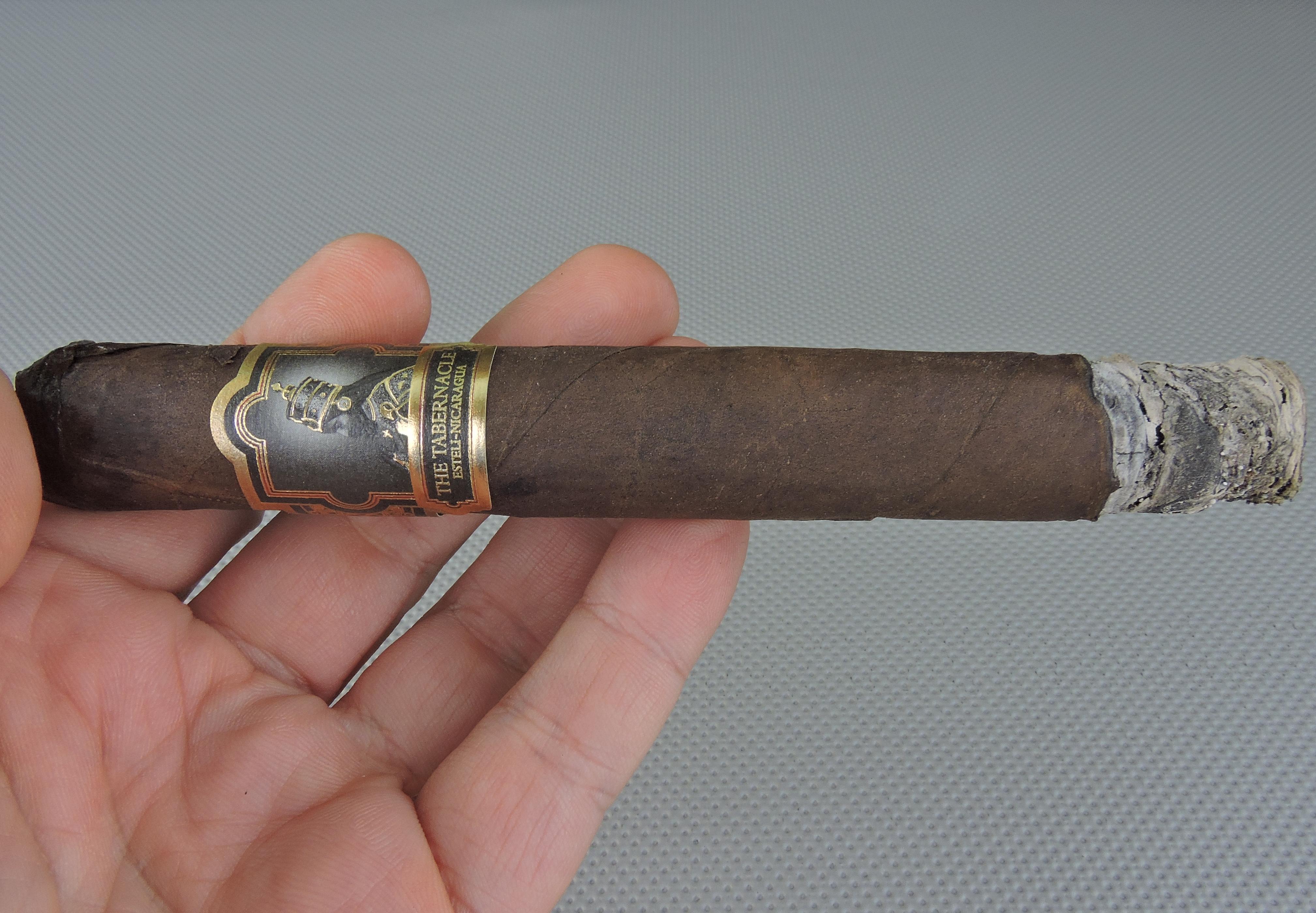 The Tabernacle Toro by Foundation Cigar Company-Burn