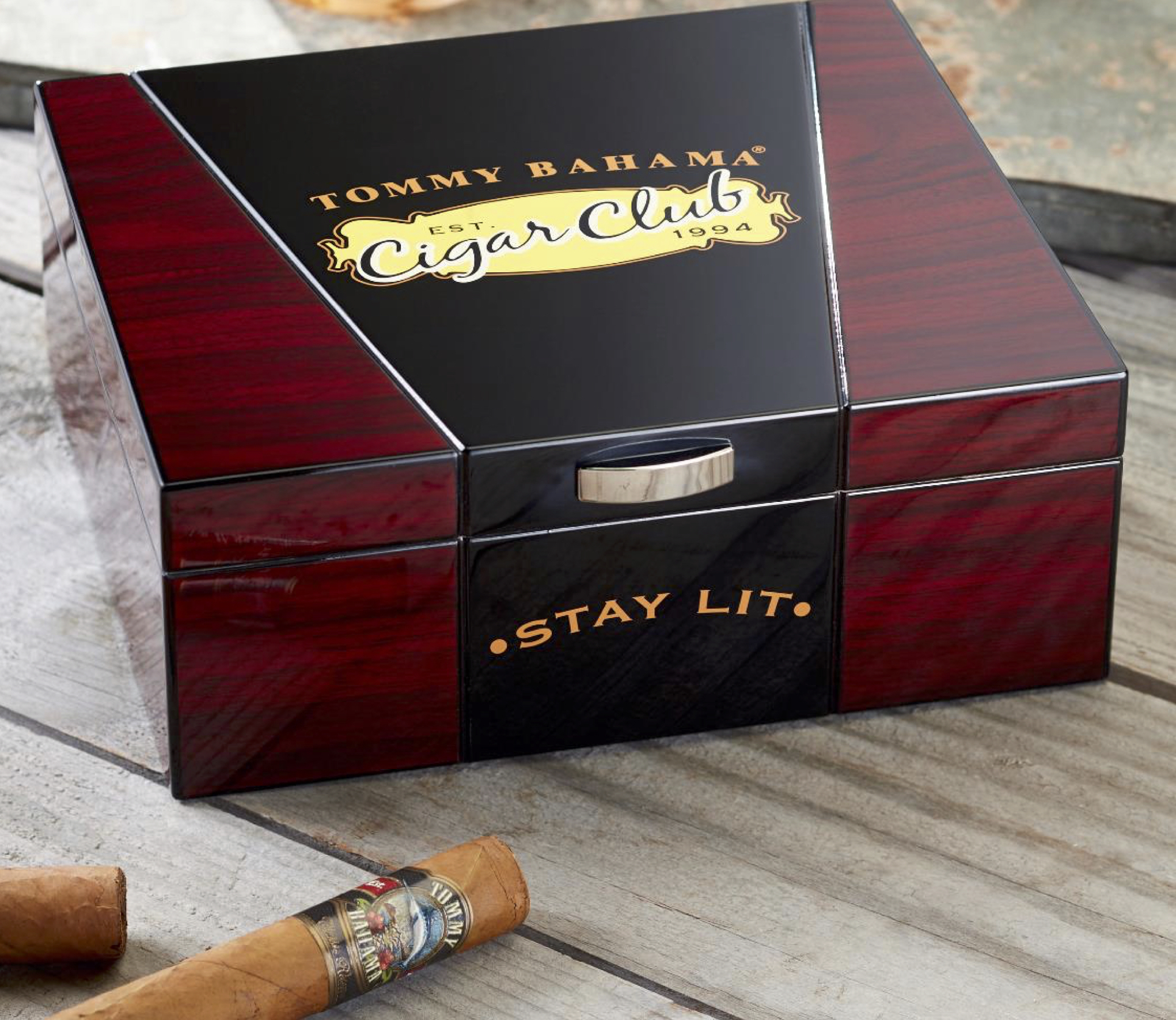 Tommy Bahama Cigar Club Desktop Humidor