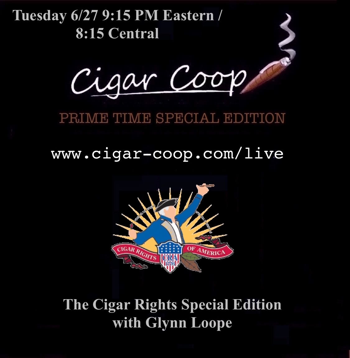 Announcement: Prime Time Special Edition 5: Tues 6/27 at 9:15 Eastern, 8:15 Central