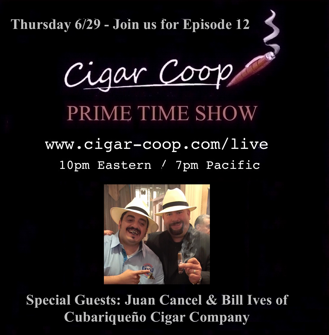 Announcement: Prime Time Show Episode 12: 6/29/17 10pm Eastern, 7pm Pacific