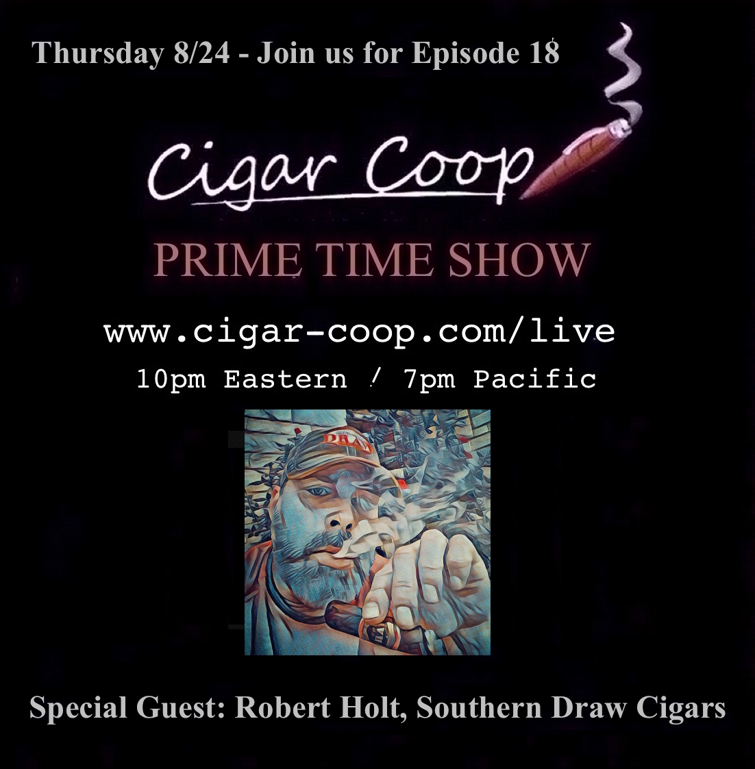 Announcement: Prime Time Show Episode 18: 8/24/17 10pm Eastern, 7pm Pacific