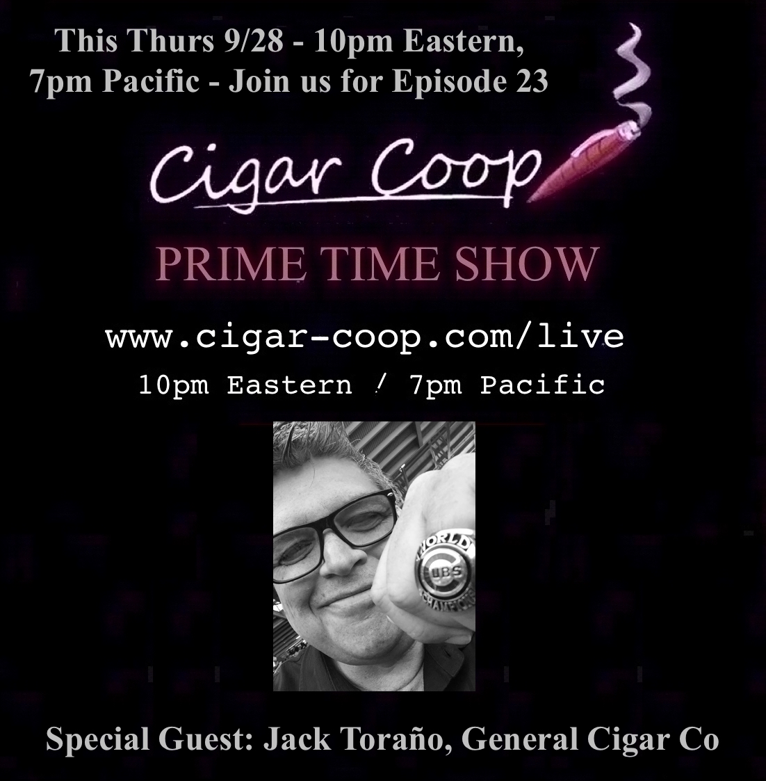 Announcement: Prime Time Show Episode 23: 9/28/17 10pm Eastern, 7pm Pacific