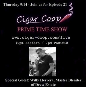 Announcement: Prime Time Show Episode 21: 9/14/17 10pm Eastern, 7pm Pacific