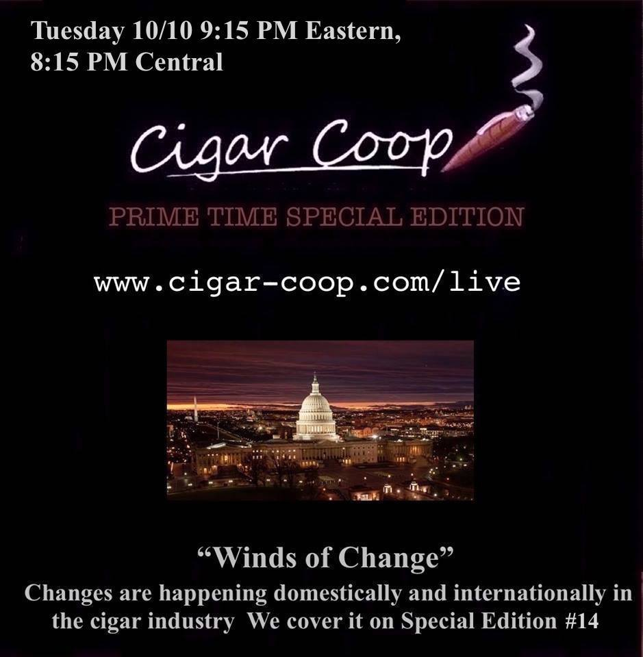 Announcement: Prime Time Special Edition #14: Tuesday 10/10 9:15 Eastern, 8:15 Central