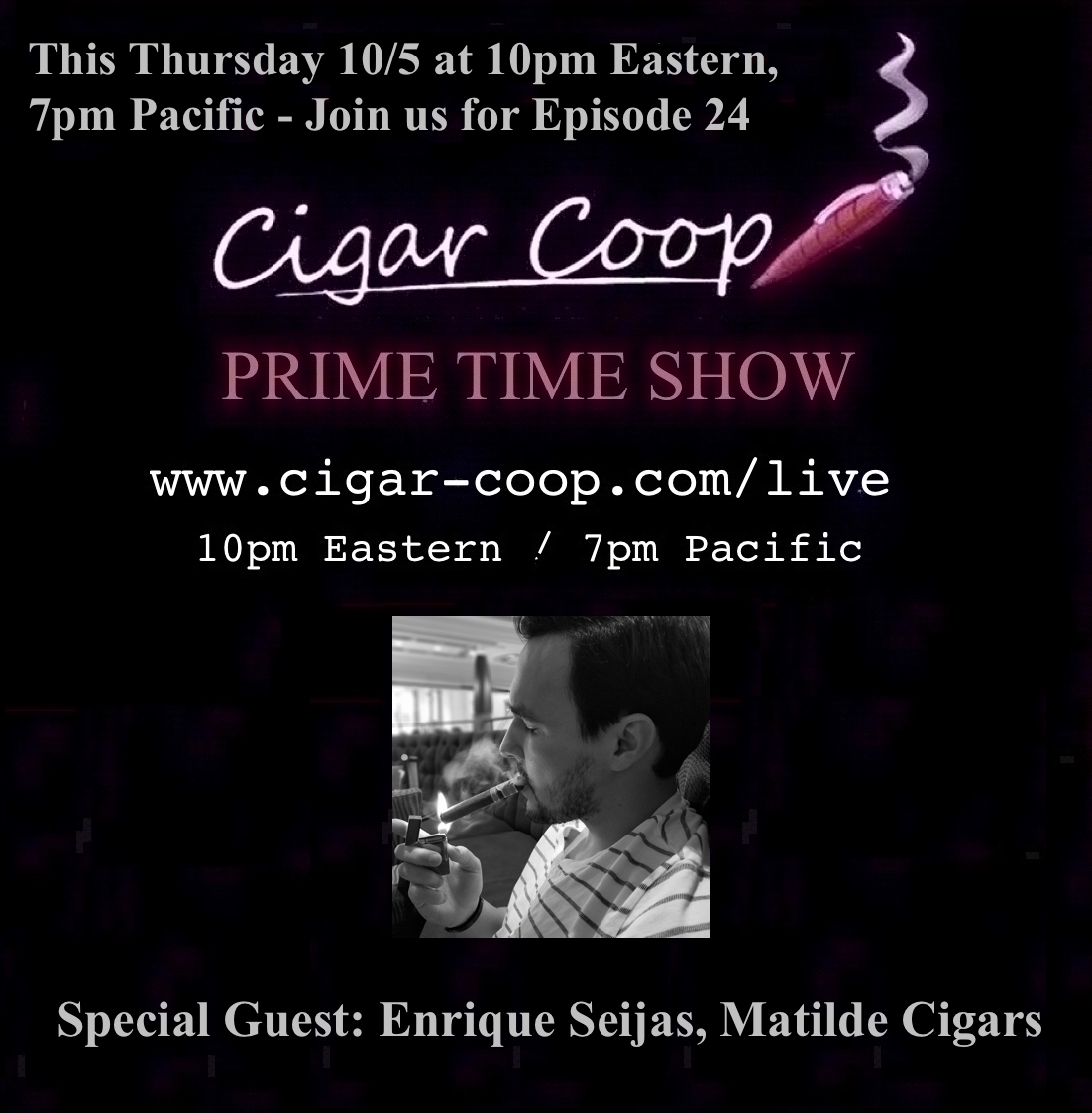 Announcement: Prime Time Show Episode 24: 10/5/17 10pm Eastern, 7pm Pacific