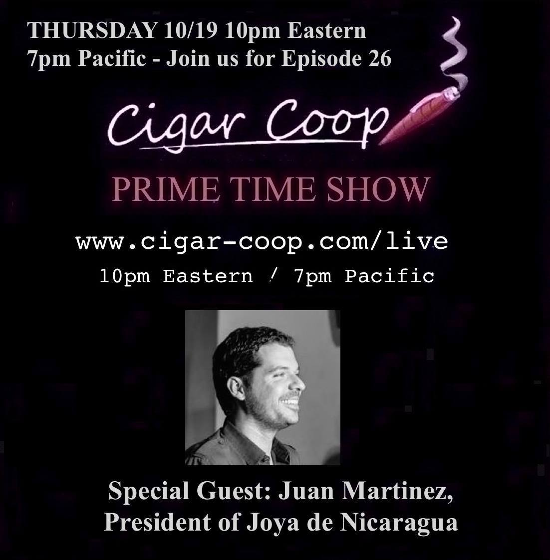 Announcement: Prime Time Show Episode 26: 10/19/17 10pm Eastern, 7pm Pacific