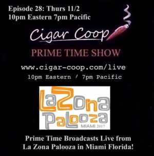 Announcement: Prime Time Show Episode 28: 11/2/17 10pm Eastern, 7pm Pacific