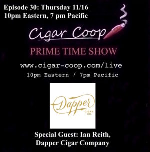 Announcement: Prime Time Show Episode 30 11/16/17 10pm Eastern, 7pm Pacific