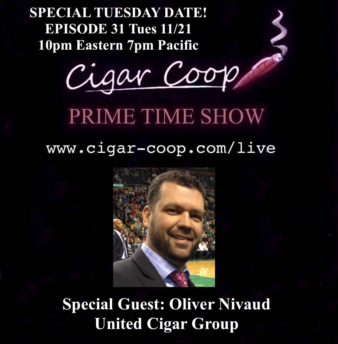 Announcement: Prime Time Show Episode 31 11/21/17 10pm Eastern, 7pm Pacific