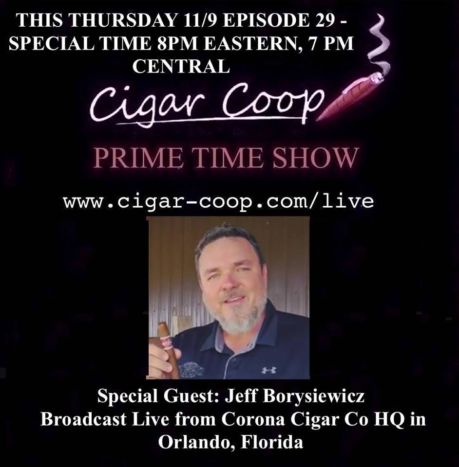 Announcement: Prime Time Show Episode 29 11/9/17 *SPECIAL TIME* 8pm Eastern, 5pm Pacific