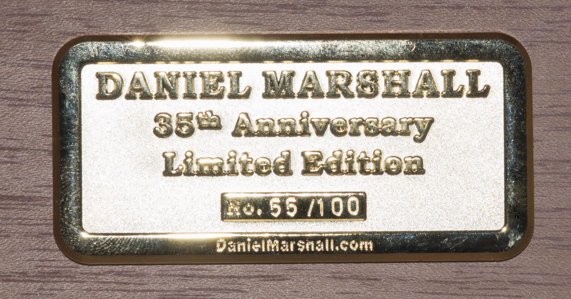Daniel Marshall 35th Anniversary Humidor Medallion