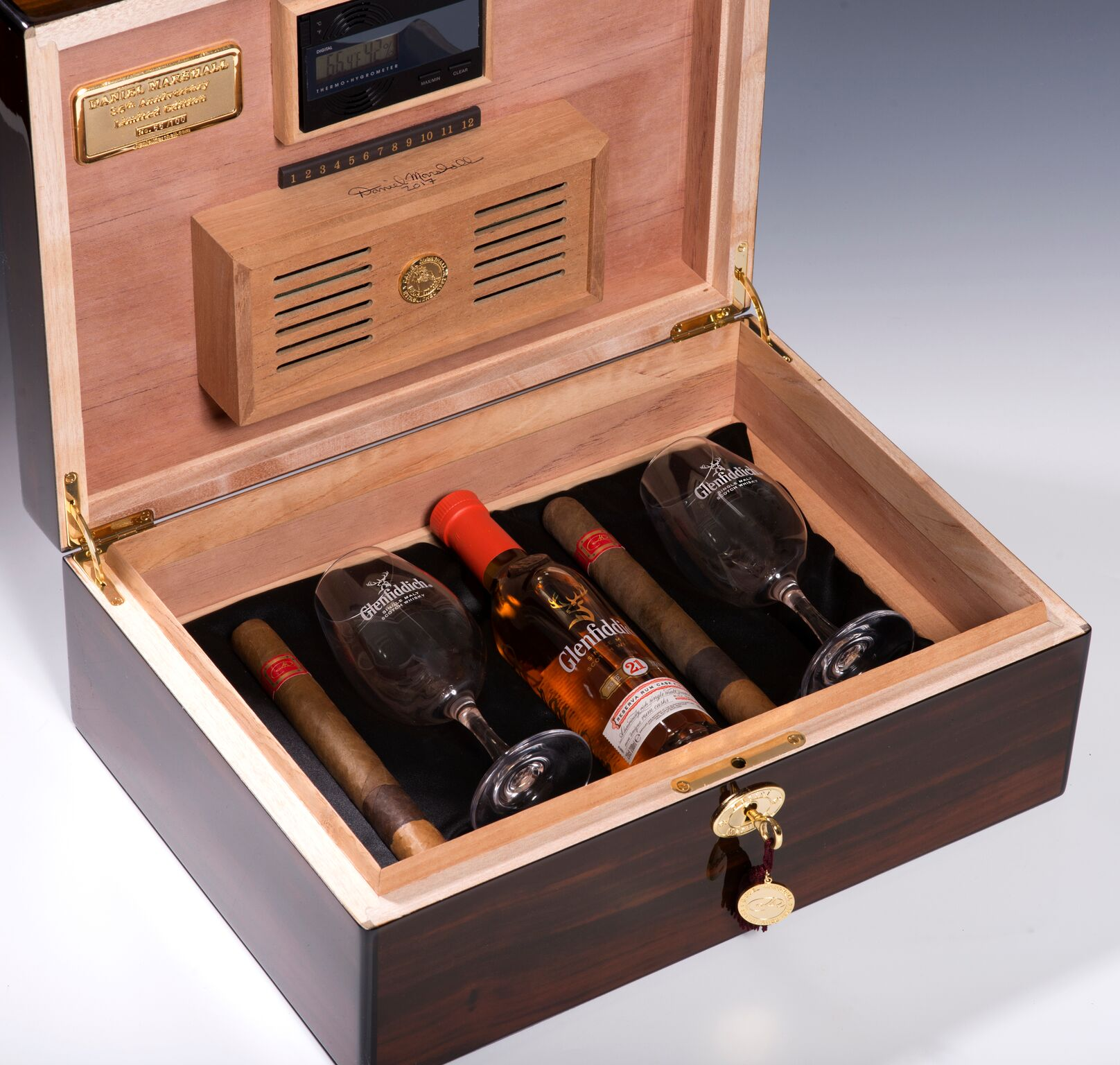 Daniel Marshall 35th Anniversary Humidor - Open