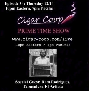 Announcement: Prime Time Show Episode 34 12/14/17 10pm Eastern, 7pm Pacific