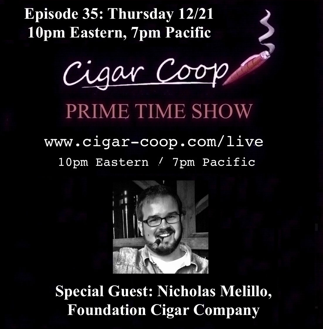 Announcement: Prime Time Show Episode 35 12/21/17 10pm Eastern, 7pm Pacific