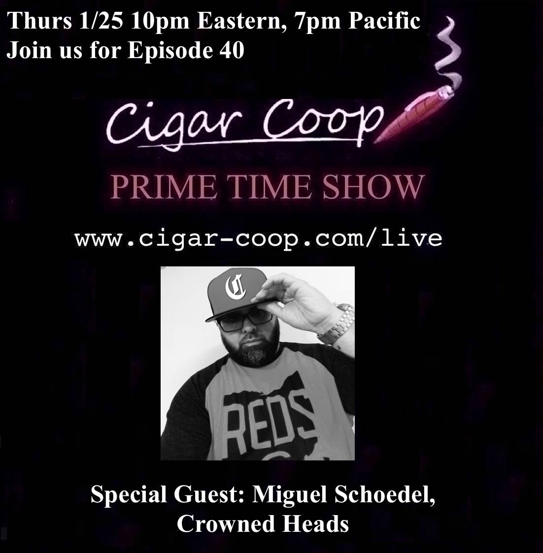 Announcement: Prime Time Show Episode 40 1/25/18 10pm Eastern, 7pm Pacific