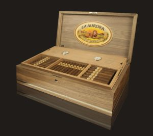 Cigar News: La Aurora to Offer Special Humidor Containing Preferidos Double Barrel Aged Parejos