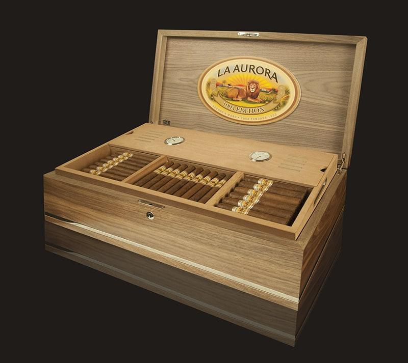Cigar News: La Aurora to Offer Special Humidor Containing Preferidos Double Barrel Aged Parejos