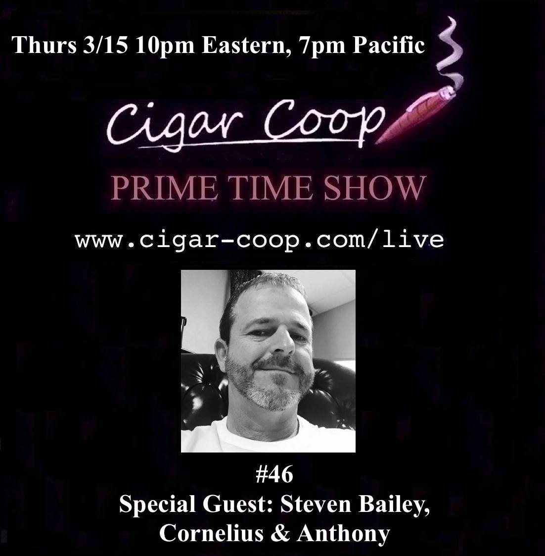 Announcement: Prime Time Show Episode 46 3/15/18 10pm Eastern, 7pm Pacific