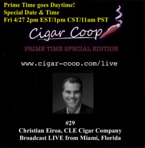 Announcement: Prime Time Special Edition #29 – Prime Time Goes Daytime w Special Guest Christian Eiroa | Fri 4/27 2pm EST