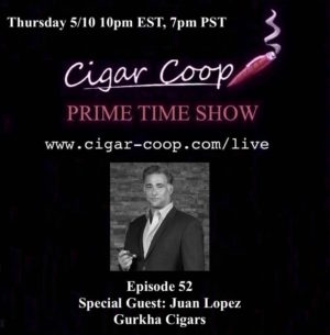 Announcement: Prime Time Show Episode 52 – Juan Lopez 10pm EST, 7pm PST