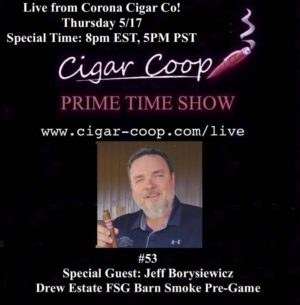 Announcement Prime Time Episode 53 – FSG Barn Smoker Pre-Game w/ Jeff Borysiewicz – SPECIAL TIME 8PM EST