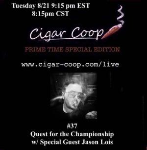 Announcement: Prime Time Special Edition #37 – Quest for the Championship w/ Jason Lois Tues 8/21 9:15pm EST, 8:15pm CST