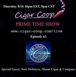 Announcement: Prime Time Show Episode 63– Nate McIntyre – 8/16/18 10pm EST, 7pm PST
