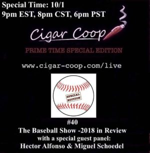 Announcement: Prime Time Special Edition #40 – The Baseball Show 2018 Post Season Edition 9pm EST 8pm CST 6pm PST