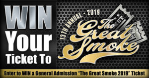 Announcement: Contest – Win a Ticket to The Great Smoke 2019