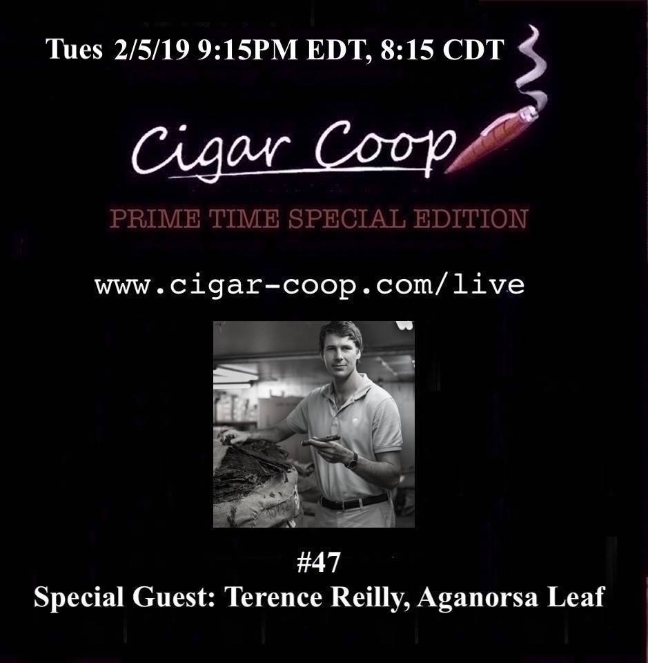 Announcement: Prime Time Special Edition #47: Terence Reilly, Aganorsa Leaf and Big Game Postgame