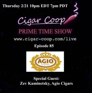 Announcement: Prime Time Episode 85 – Zev Kaminetsky, Royal Agio Cigars