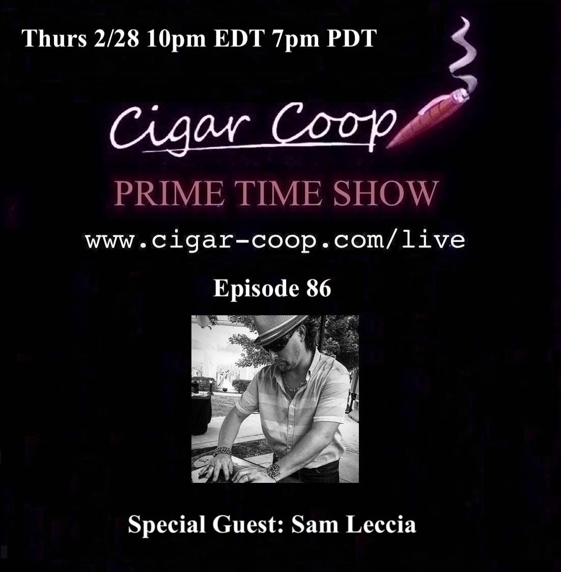 Announcement: Prime Time Episode 86 – Sam Leccia