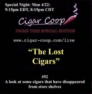 Announcement: Prime Time Special Edition #52 – The Lost Cigars