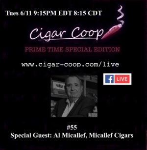 Announcement: Prime Time Special Edition #55 – Al Micallef, Micallef Cigars