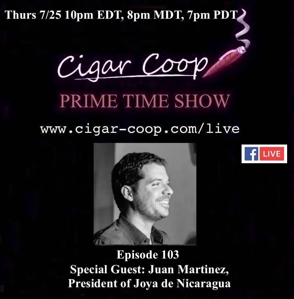 Announcement: Prime Time Episode 103 – Juan Martinez, Joya de Nicaragua