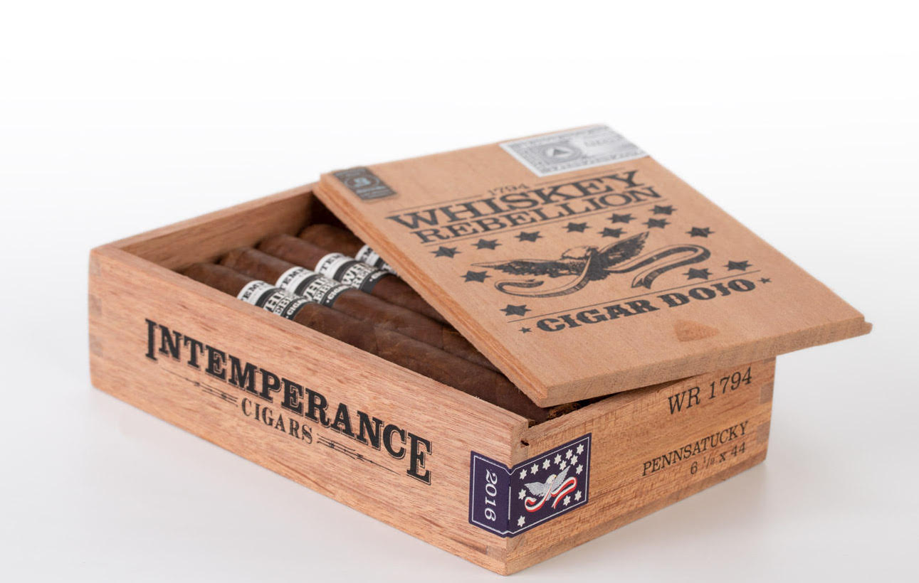 Cigar News: RoMa Craft Tobac Intemperance Whiskey Rebellion 1794 Pennsatucky Becomes Latest Cigar Dojo Collaboration