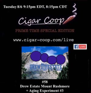 Announcement: Prime Time Special Edition #58 – Drew Estate Mount Rushmore + Aging Experiment #3