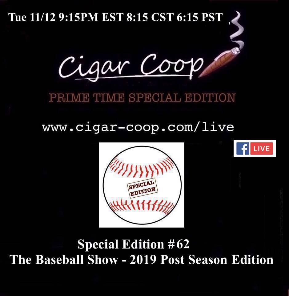 Announcement: Prime Time Special Edition 62 – The Baseball Show 2019 Postseason Edition