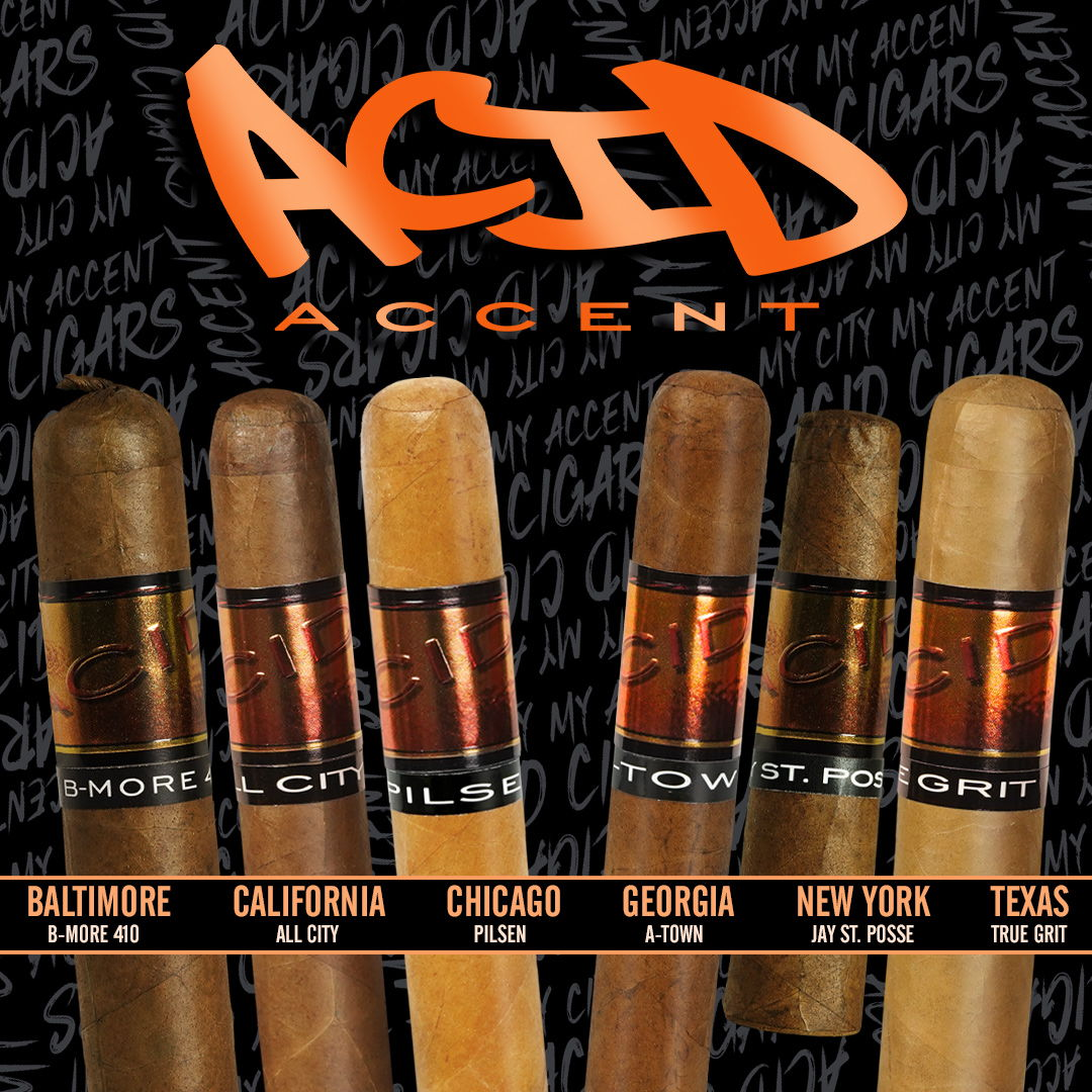 Cigar News: Drew Estate Expands ACID Accent Line with Four Regional Releases
